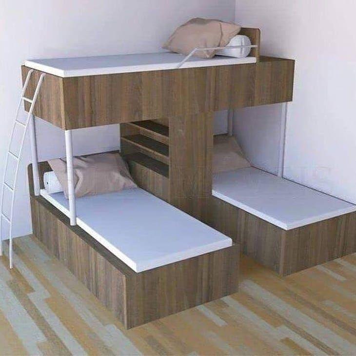 "Para Hogar on Instagram: ""⭐ Camas triples para ahorrar espacio 🏡 . . . . . .  #decoracion #dise #o #n #decoraci #deco #os #homedecor #interiordesign #decor #hogar…"""