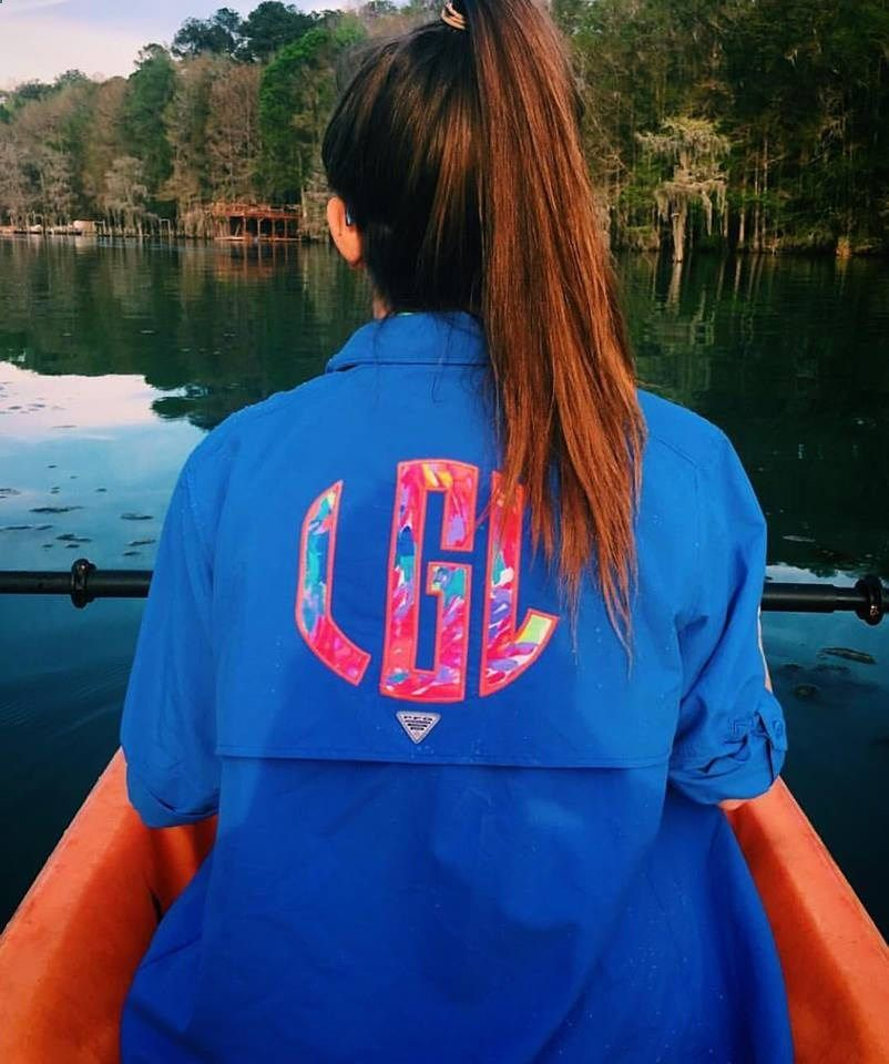 d0e692214e Fishing Shirts - Preppy Lilly Pulitzer Monogrammed Columbia PFG Fishing  Shirt Cover Up by TantrumEmbroidery on Etsy