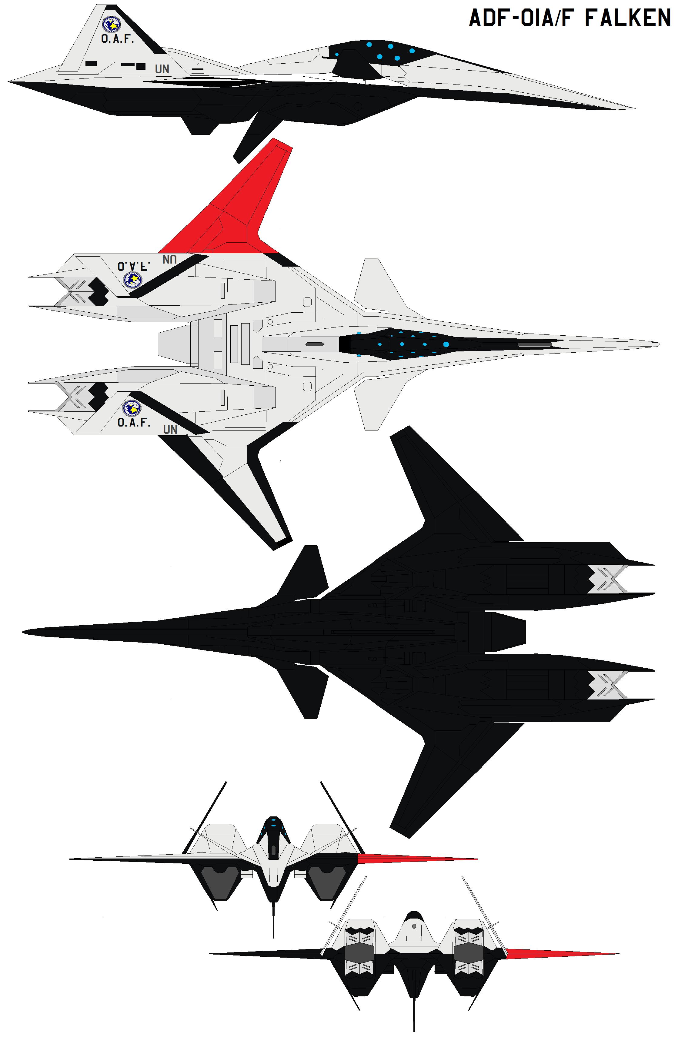 ADF-01AF FALKEN A by bagera3005 | Ace Combat | Falken