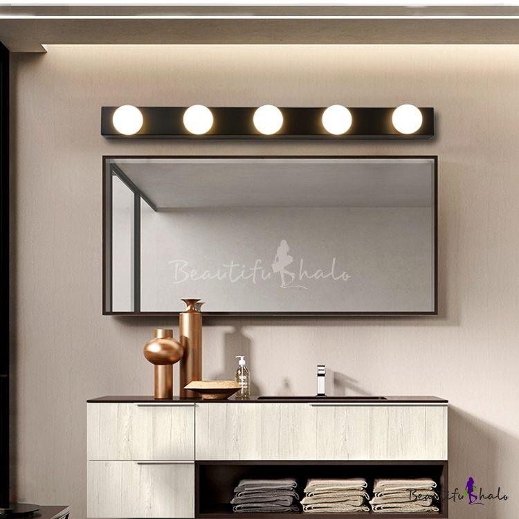 Multi Light Open Bulb Vanity, Vanity Bulb Mirror