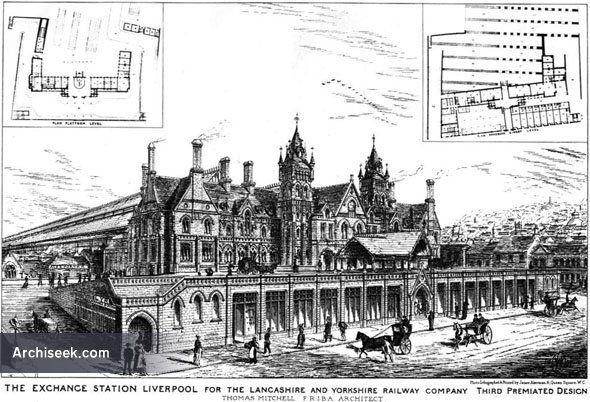 Architect: Thomas Mitchell Third Premiated Design for The Lancashire & Yorkshire Railway Company. The directors of the Lancashire and Yorkshire Railway sel