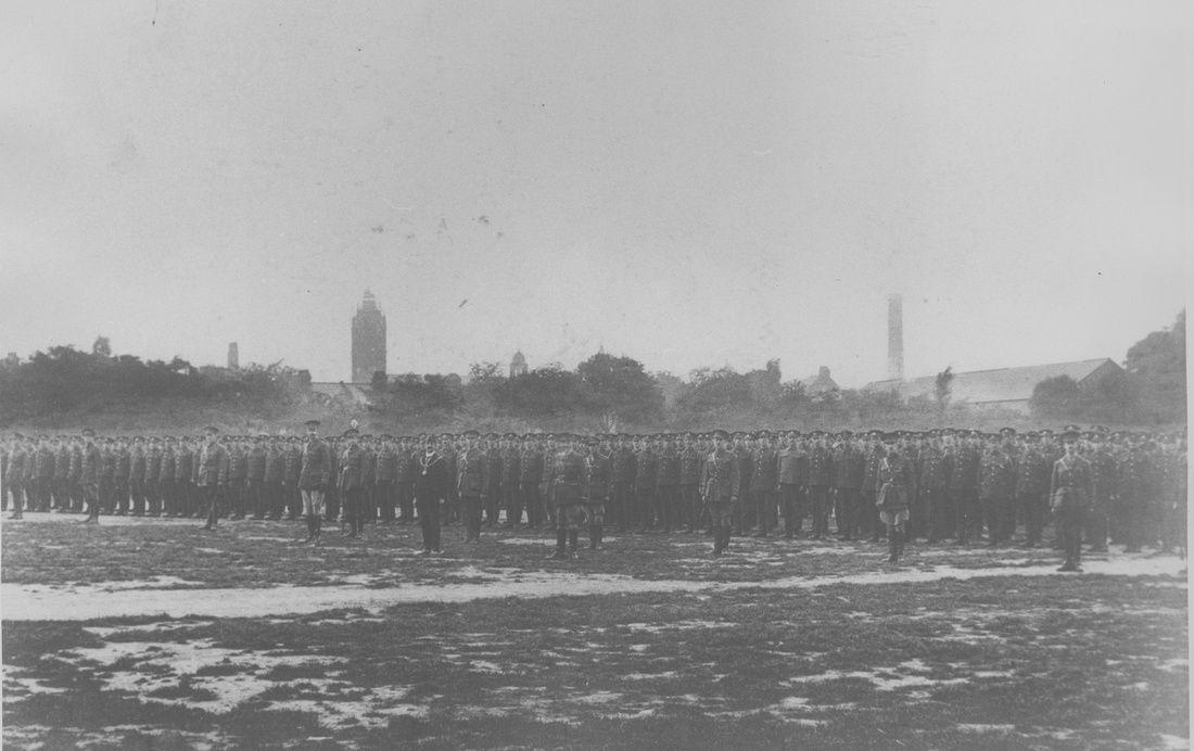178th East Ham Brigade RFA. Central Park, East Ham. 1 September 1915.