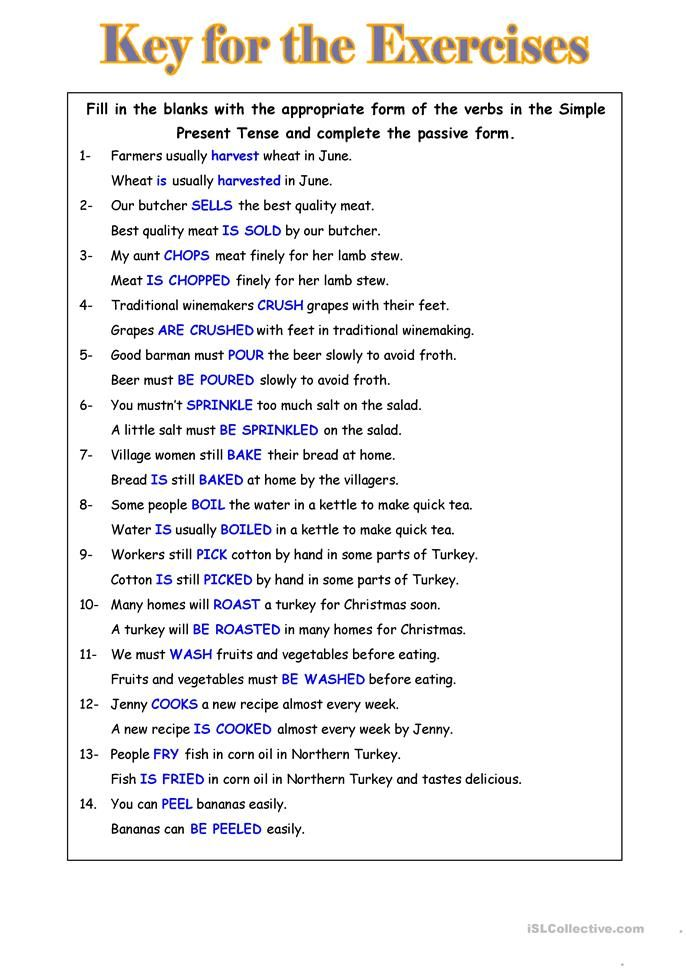 Passive Voice English Esl Worksheets For Distance Learning And Physical Classrooms Active And Passive Voice English Writing Skills Learn English Words Active and passive voice worksheets