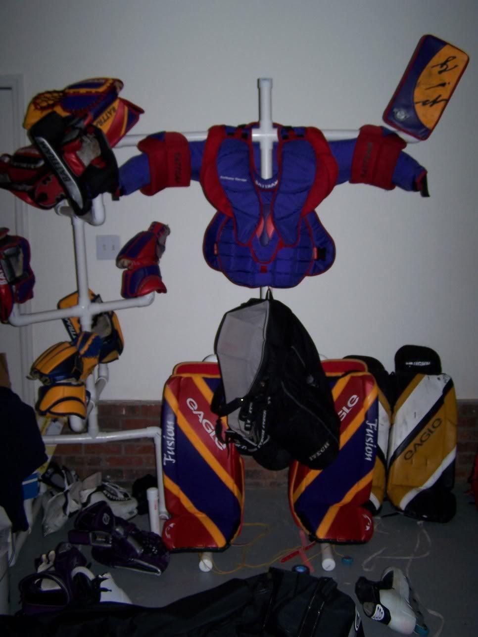 Equipment drying rack for dummies! - Goalie Store Bulletin Board