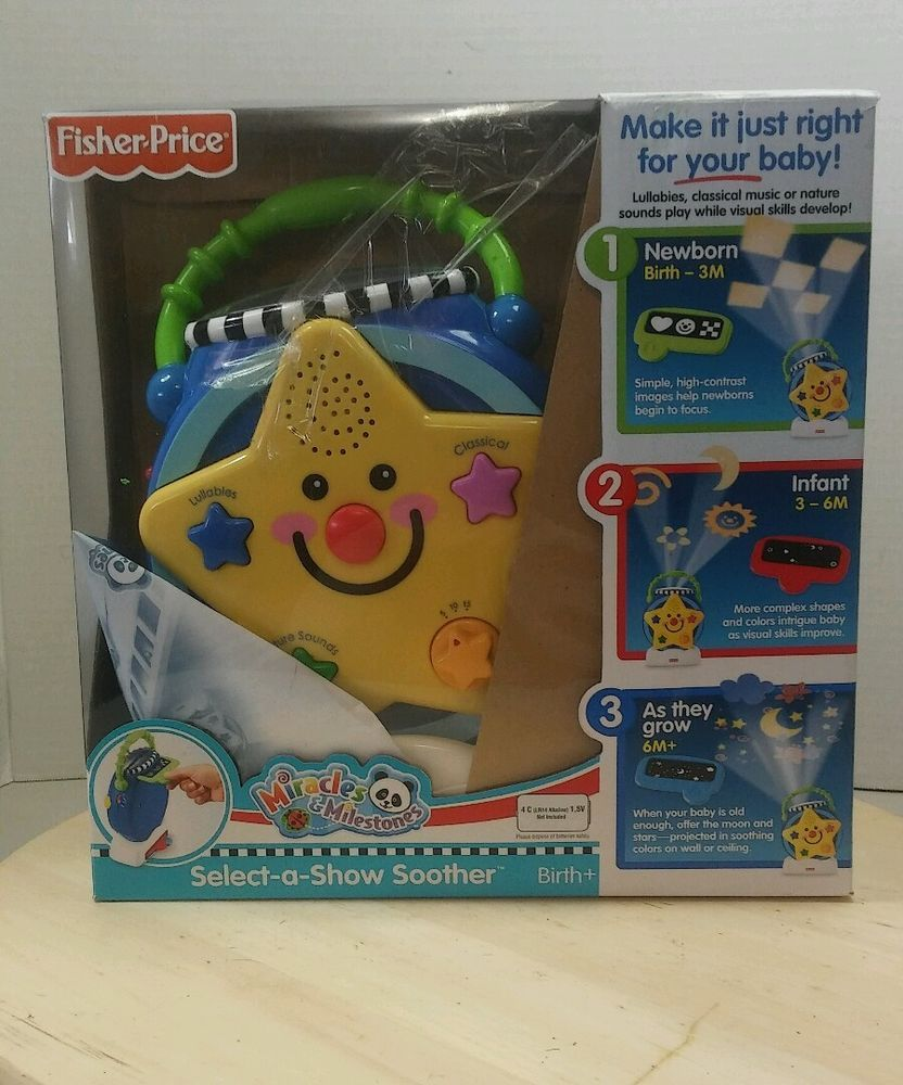 d52f039de36f Fisher Price Select A Show Soother Lullaby Musical Light Projector Crib Toy  #FisherPrice
