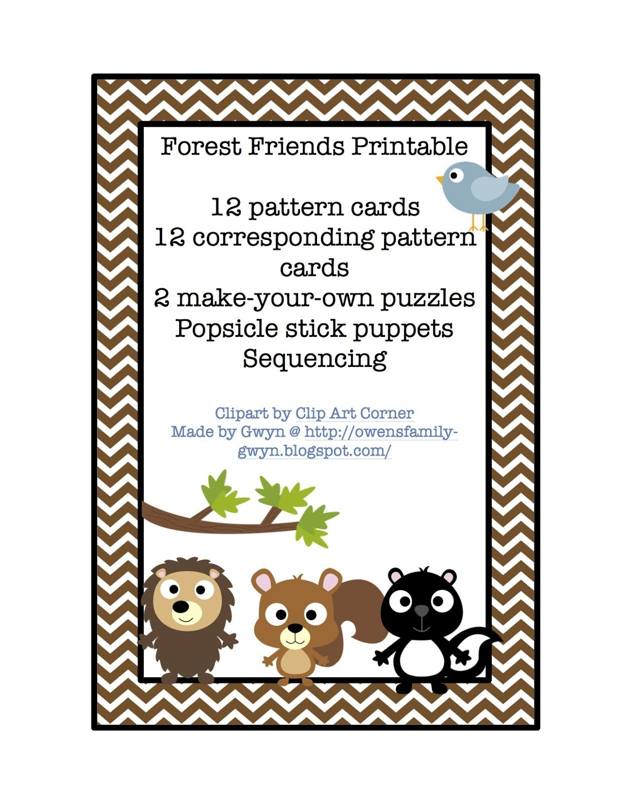 Preschool Printables Free Forest Friends Theme