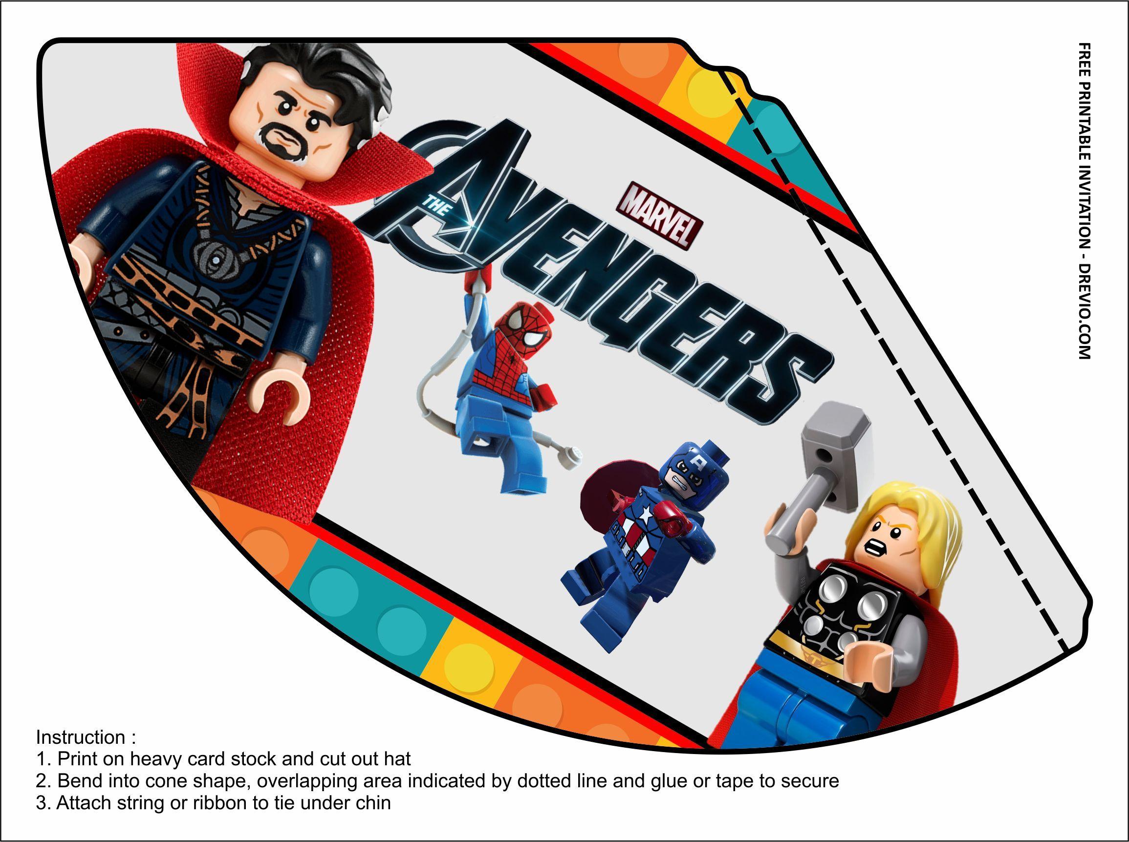 Free Printable Lego Avengers Birthday Kits Templates Avengers Birthday Free Printable Birthday Invitations Printable Birthday Invitations