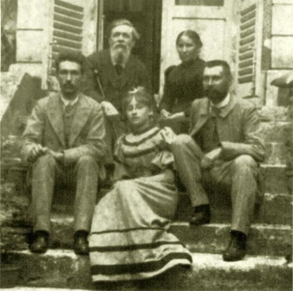 .Colette with her mother and father ( back row), younger brother on the left and her older brother (and favorite sibling) on the right
