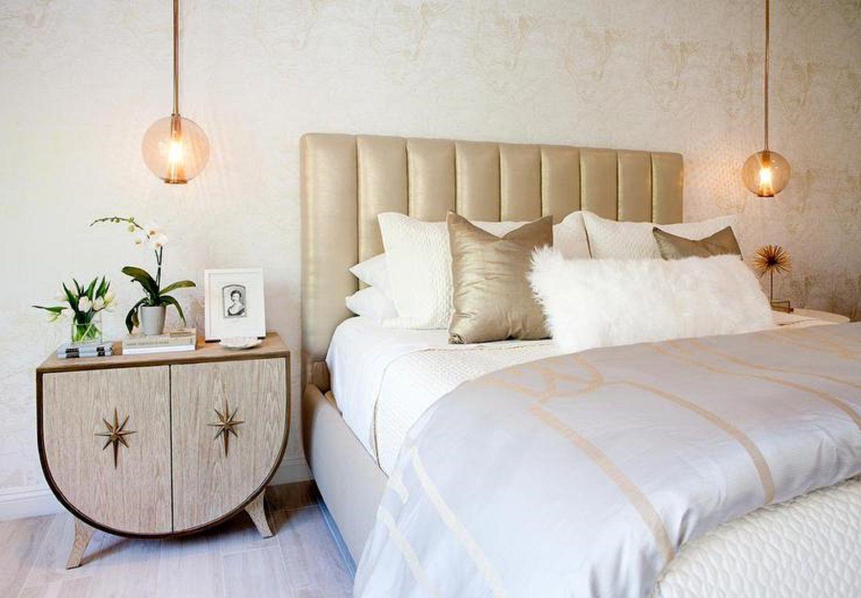 Consider Hanging Pendants Above Nightstands Master Bedroom Lighting Pendant Lighting Bedroom Grey And Gold Bedroom