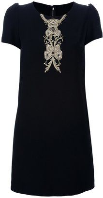 Dolce & Gabbana Embroidered Detail Shift Dress
