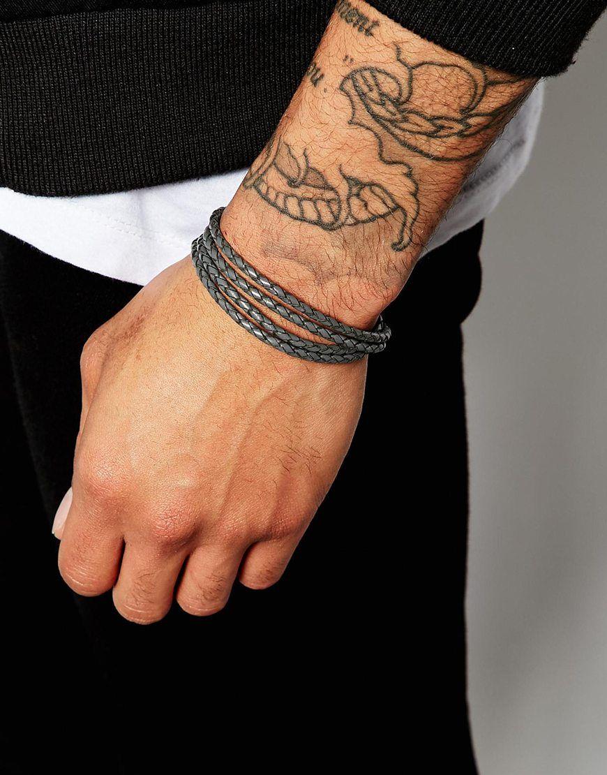 73696f03884a Image 3 of Ted Baker Plaited Wrap Leather Bracelet
