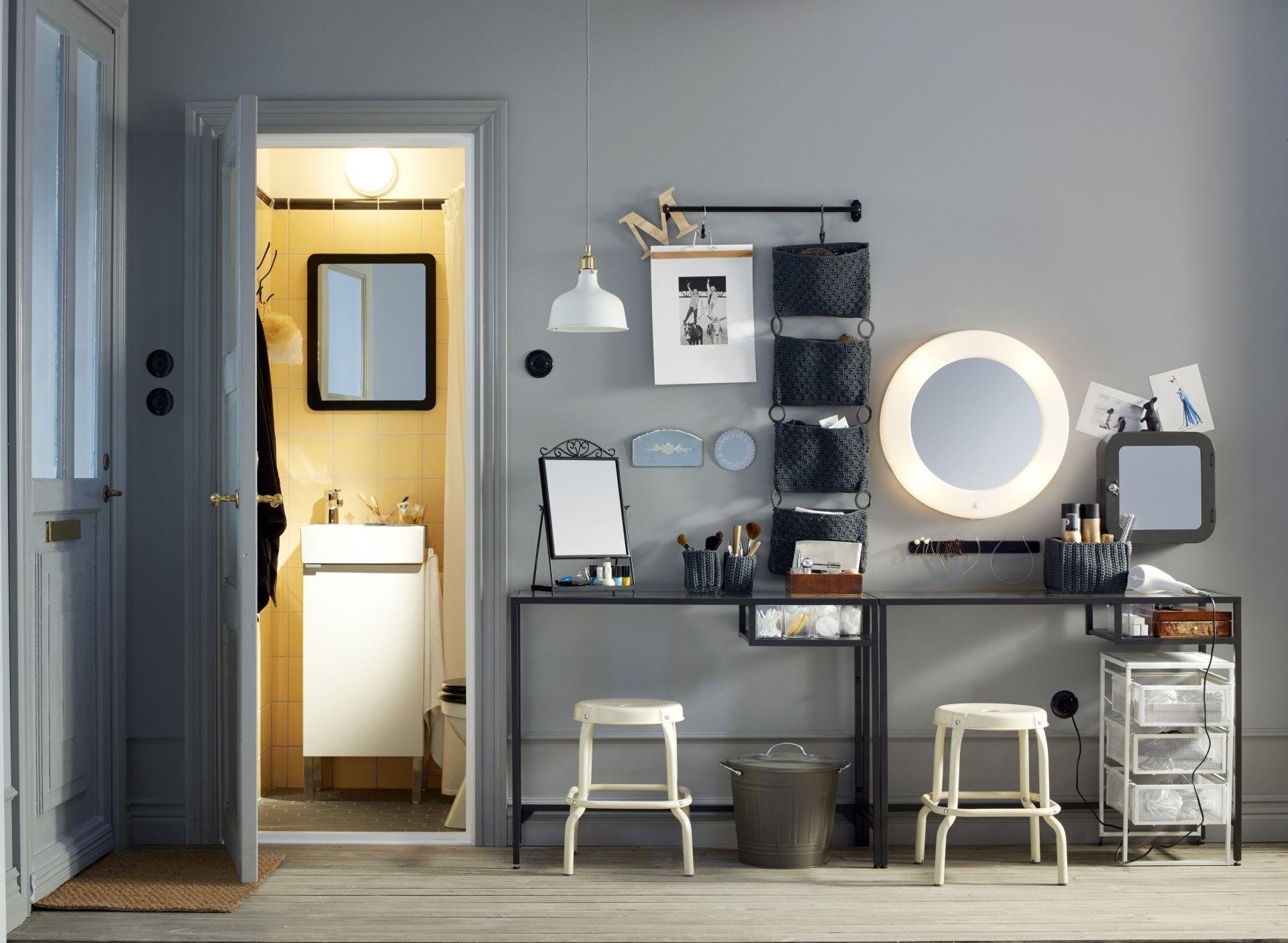 LILLJORM Spiegel m geïntegreerde verlichting | Vanities, Bedrooms ...
