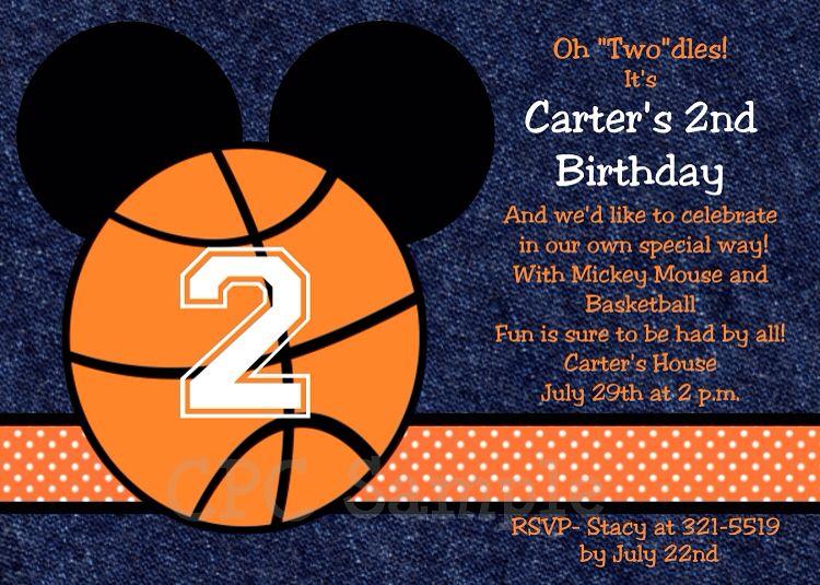 Invitation Wording Basketball Birthday Parties