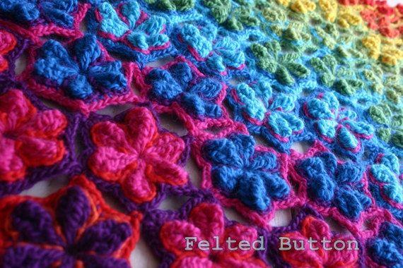 Crochet Pattern, Star Fruit Blanket Rug Coverlet Afghan Runner Scarf ...