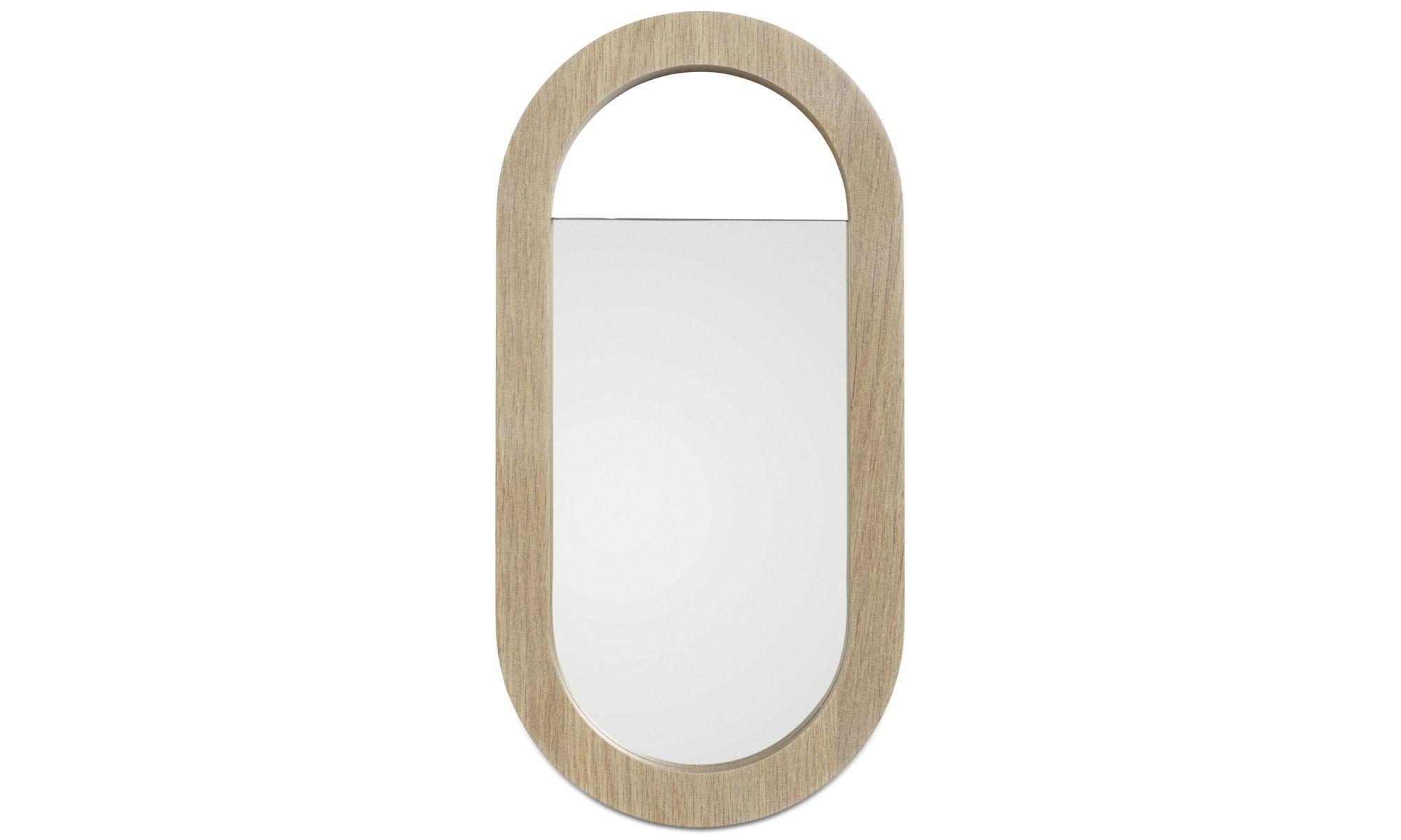Mirrors - Living hand mirror - Brown - Oak