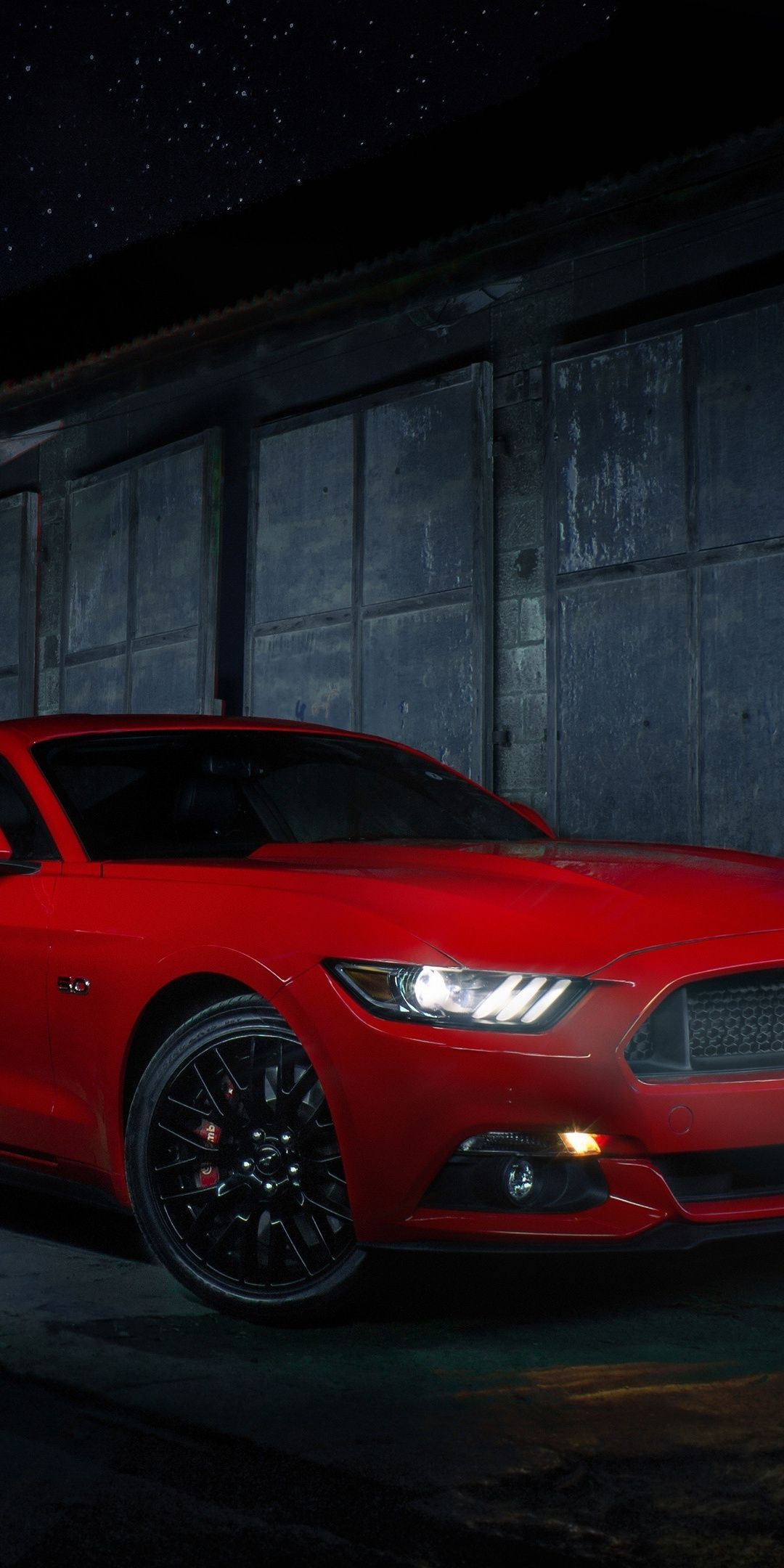 1080×2160 Red Ford Mustang, 2019 wallpaper