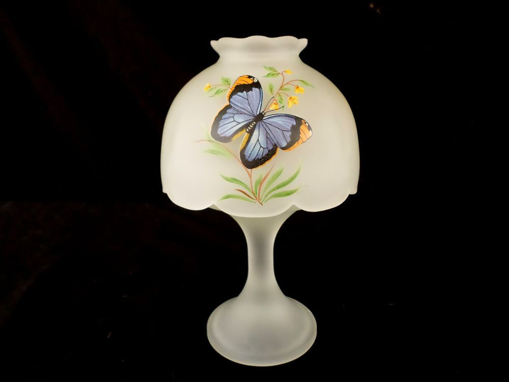 Westmoreland Glass * Fairy Light / Lamp * Satin Glass w ...