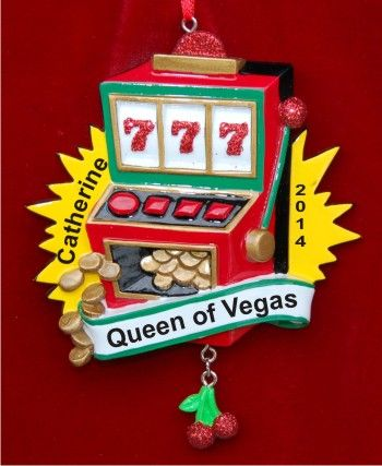 Triple 7s Slot Machine Christmas Ornament  Slot Rhodes and Vegas