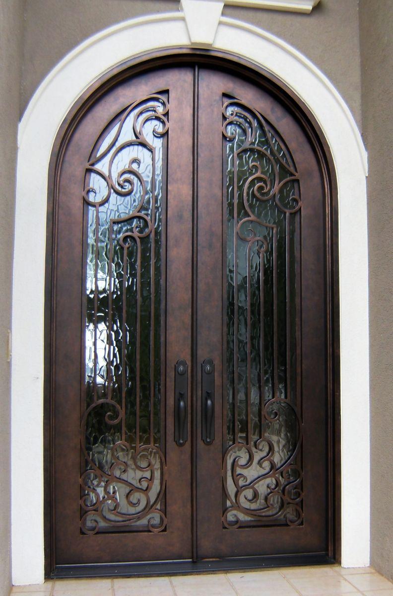 Understated Bronze Double Door Clark Hall Iron Doors Charlotte Nc