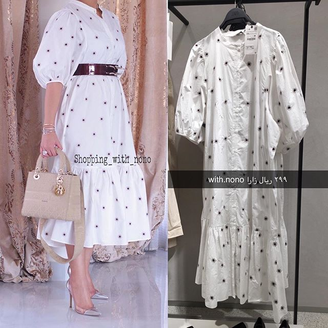 𝚆𝚒𝚝𝚑 𝚗𝚘𝚗𝚘 On Instagram فستان زارا على الانيقة Walahearts Zara With Nono Zara Zara Off Shoulder Dress Fashion Shoulder Dress