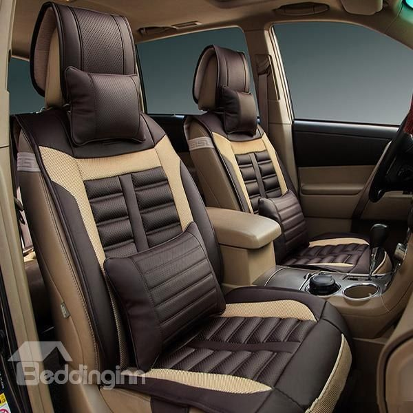 Eco Friendly Leather Material Classic Universal Car Seat Cover