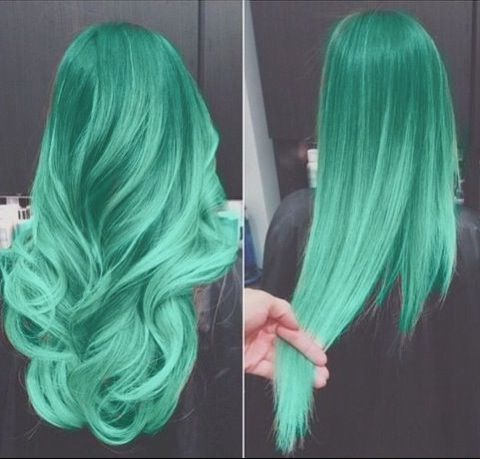Photoshop but still cool I love teal hair