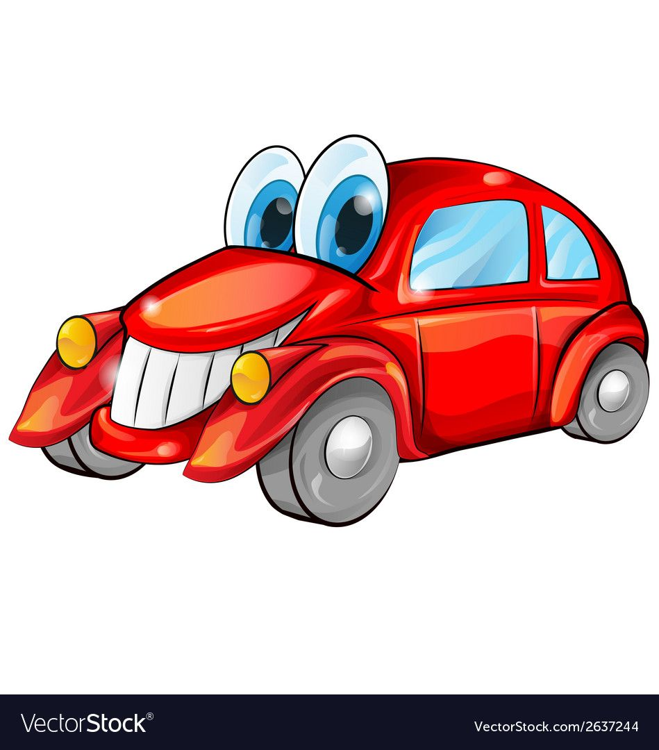 Happy Car Cartoon Vector Image On En 2020 Con Imagenes Coches