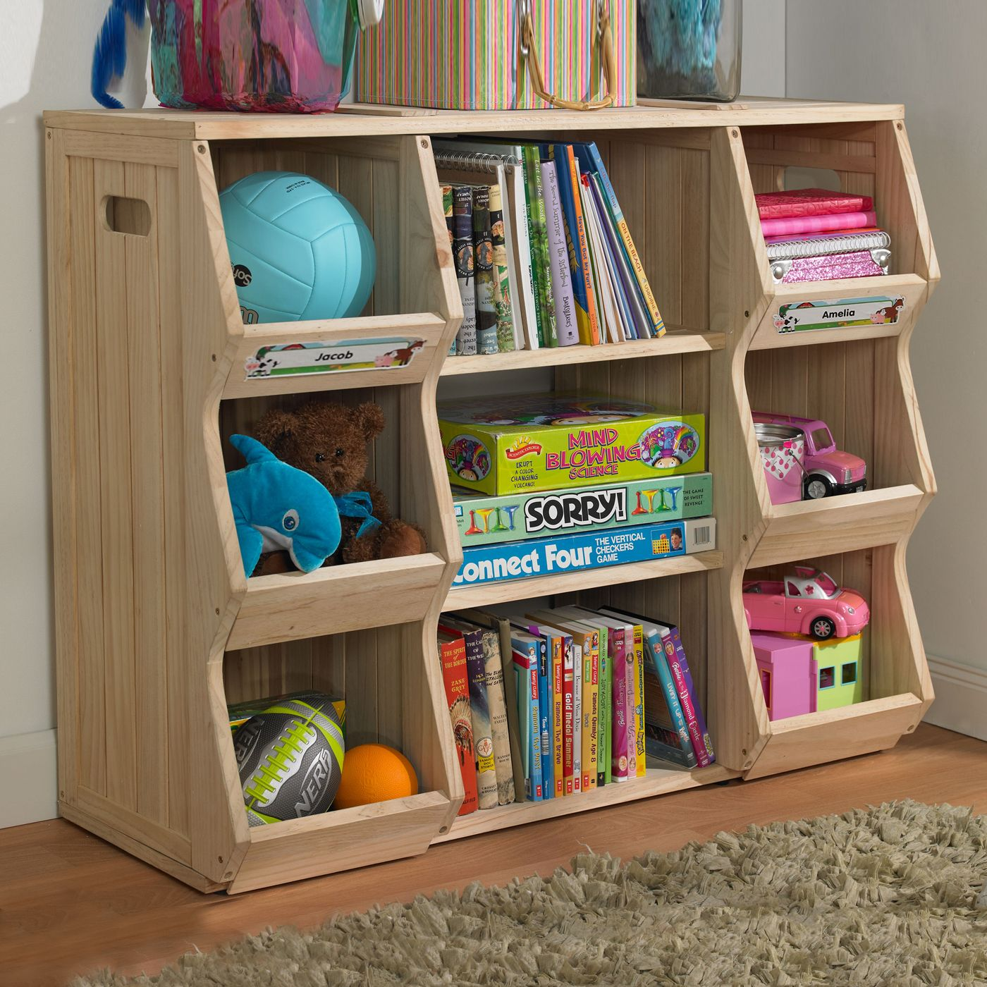 Merry products slf0031901910 children 39 s bookshelf cubby for Kids room storage ideas