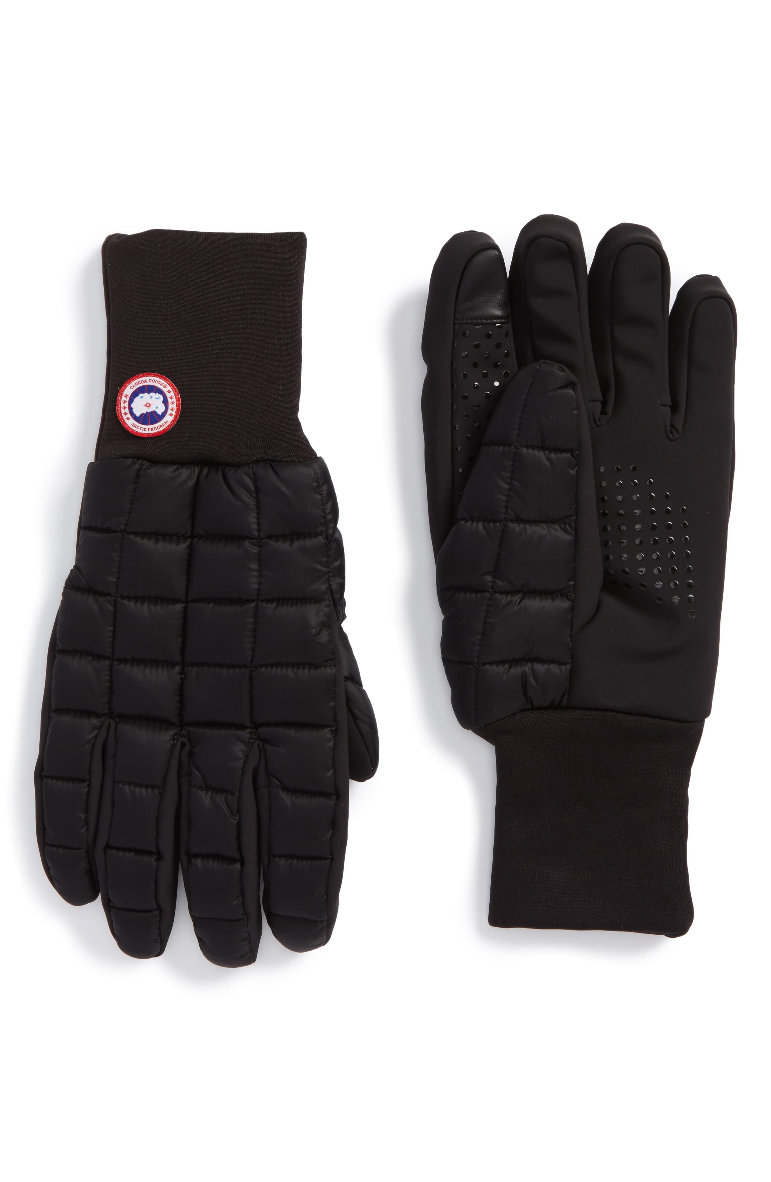 Men S Canada Goose Northern Liner Gloves Size Small Black