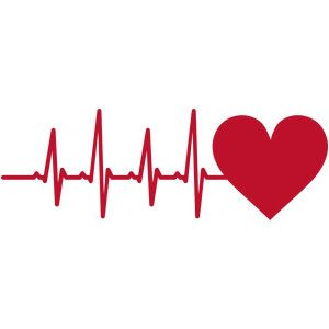 Silhouette Design Store - View Design #173257: heart heartbeat