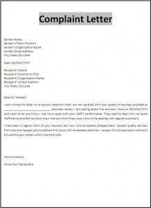 Complaint Letter Template  New Az Templates    Letter