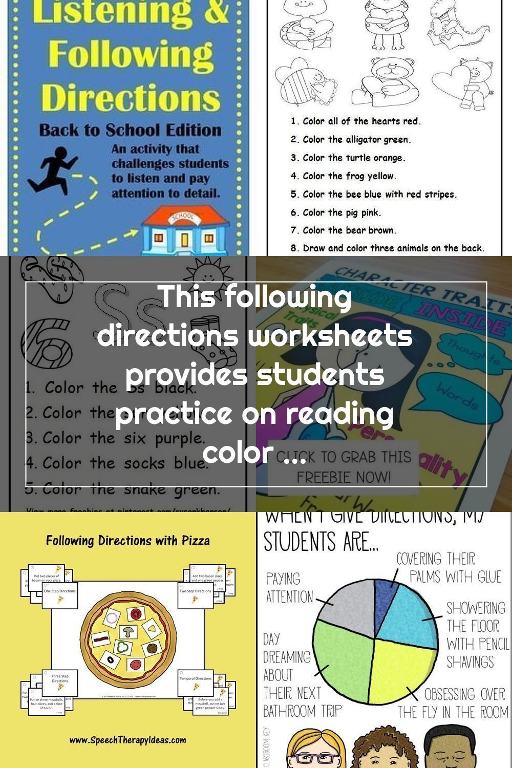 This Following Directions Worksheets Provides Students Practice On Reading In 2020