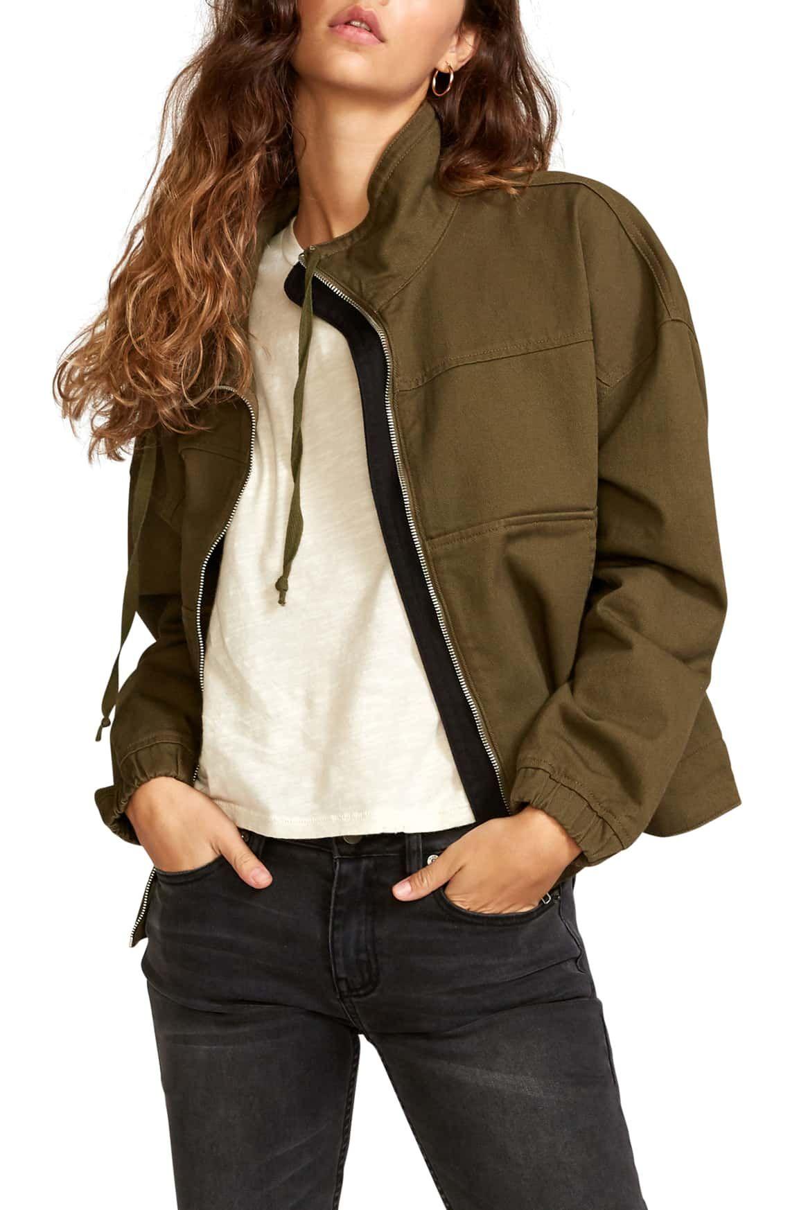 Rvca Skyway Cotton Crop Jacket Nordstrom Cotton Twill Jacket Crop Jacket Jackets [ 1746 x 1140 Pixel ]