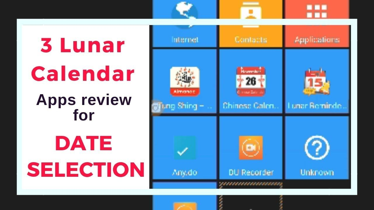3 Lunar Calendar Apps Review For Date Selection Android Lunar