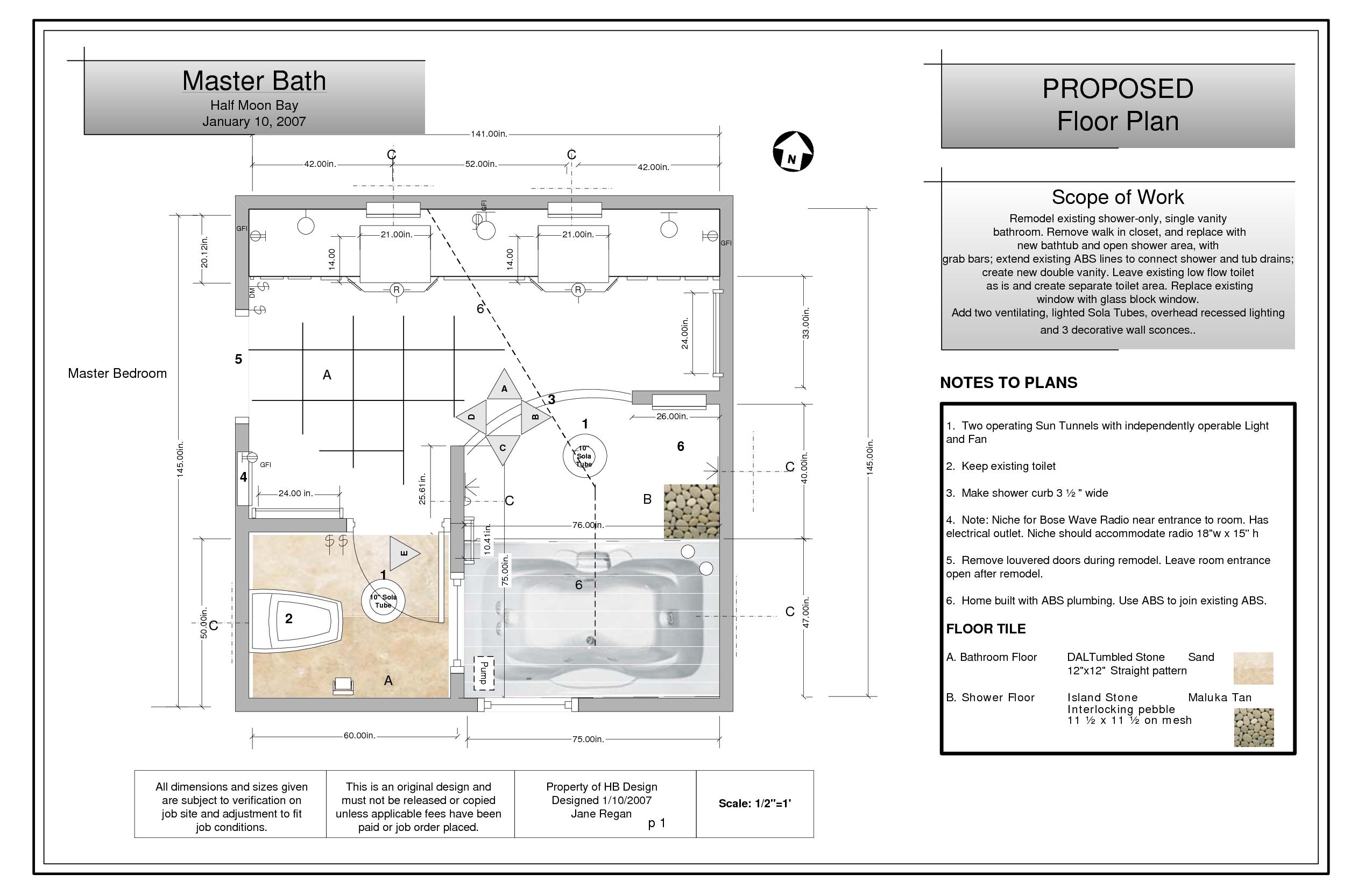 Master bathroom floor plans with walk in shower master bath floor
