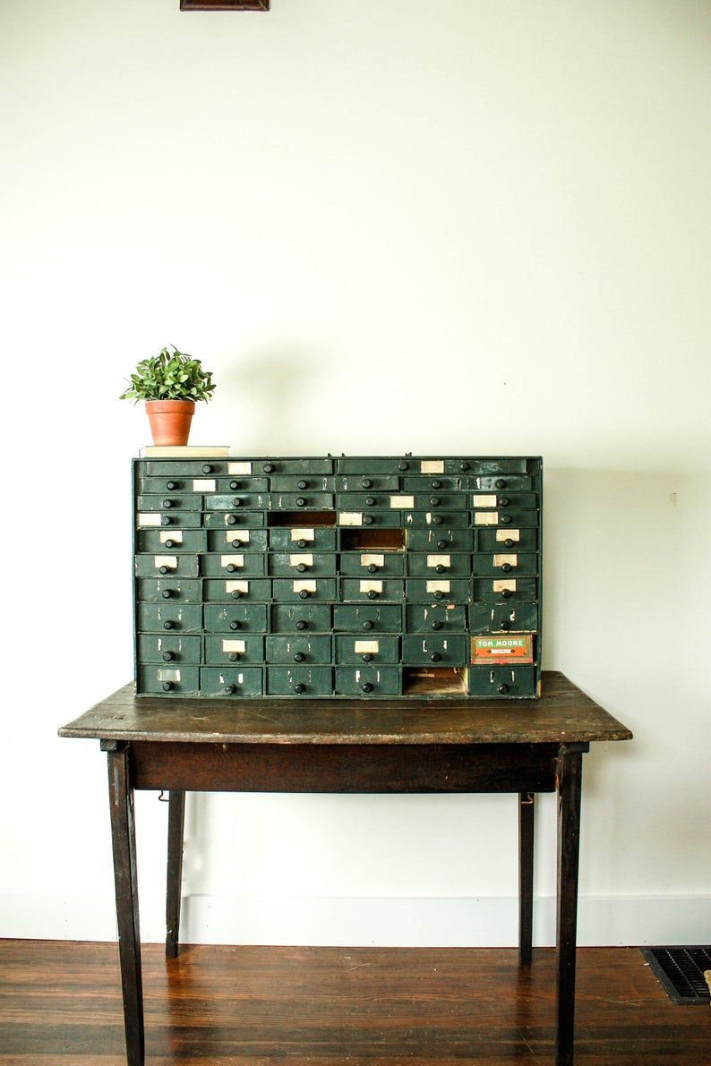 vintage cigar box cabinet tabletop