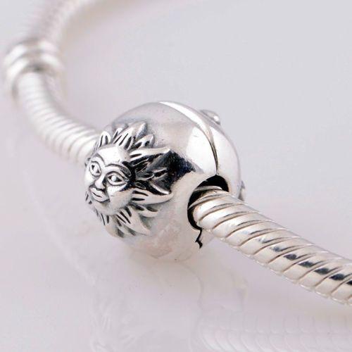 Sun Moon Stars 925 Sterling Silver Clip Bead Fits European Charm Bracelets | eBay