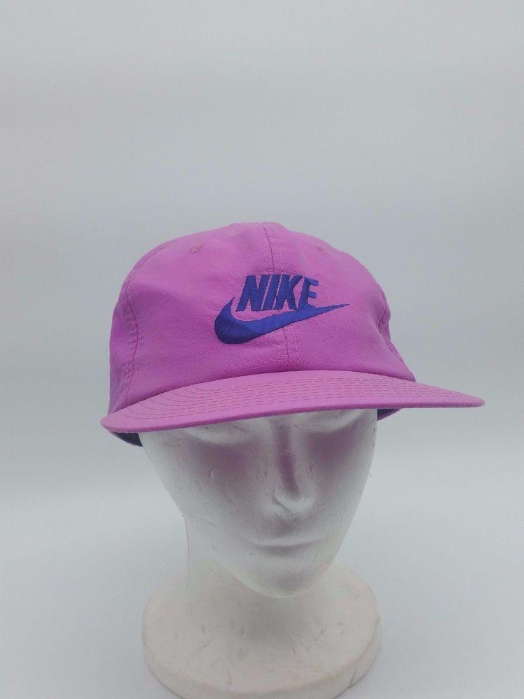 907c4545ffd Vintage Nike Solid Purple Neon 80s 90s Spellout Logo Snapback Hat Cap  Taiwan ROC