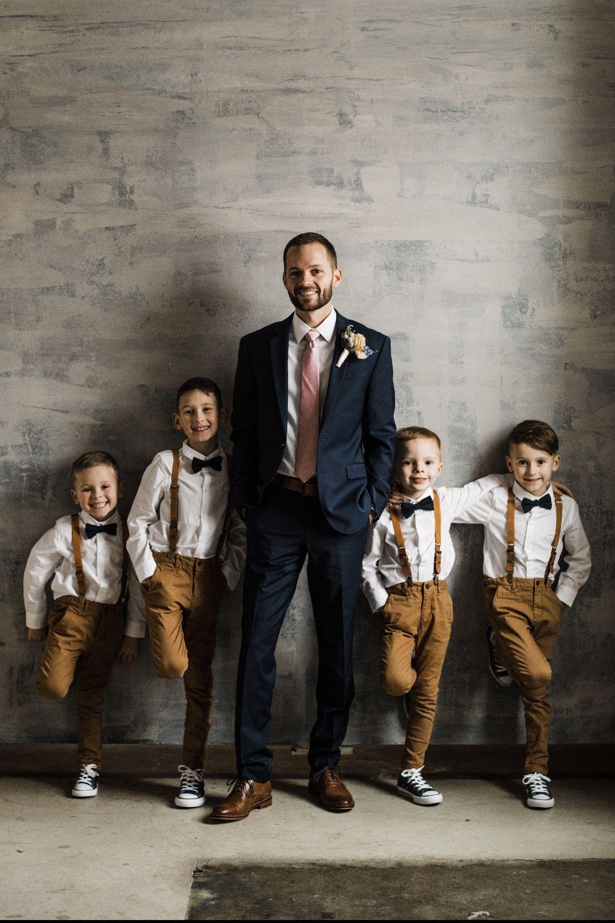 BOYS GREEN MATCHING BOW TIE SUSPENDER SET KIDS UNISEX DRESS UP WEDDING FORMAL