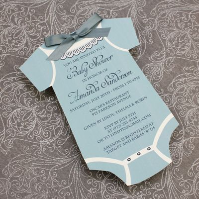 Baby Shower Invitation Template Boys Onsie – Baby Shower Invitation Template Microsoft Word