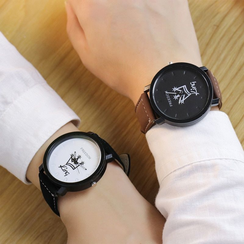 43dae39bd66 Couples Watch King   Queen Leather Quartz Watch Price  13.28   FREE  Shipping  couple  couplegifts  love  lover