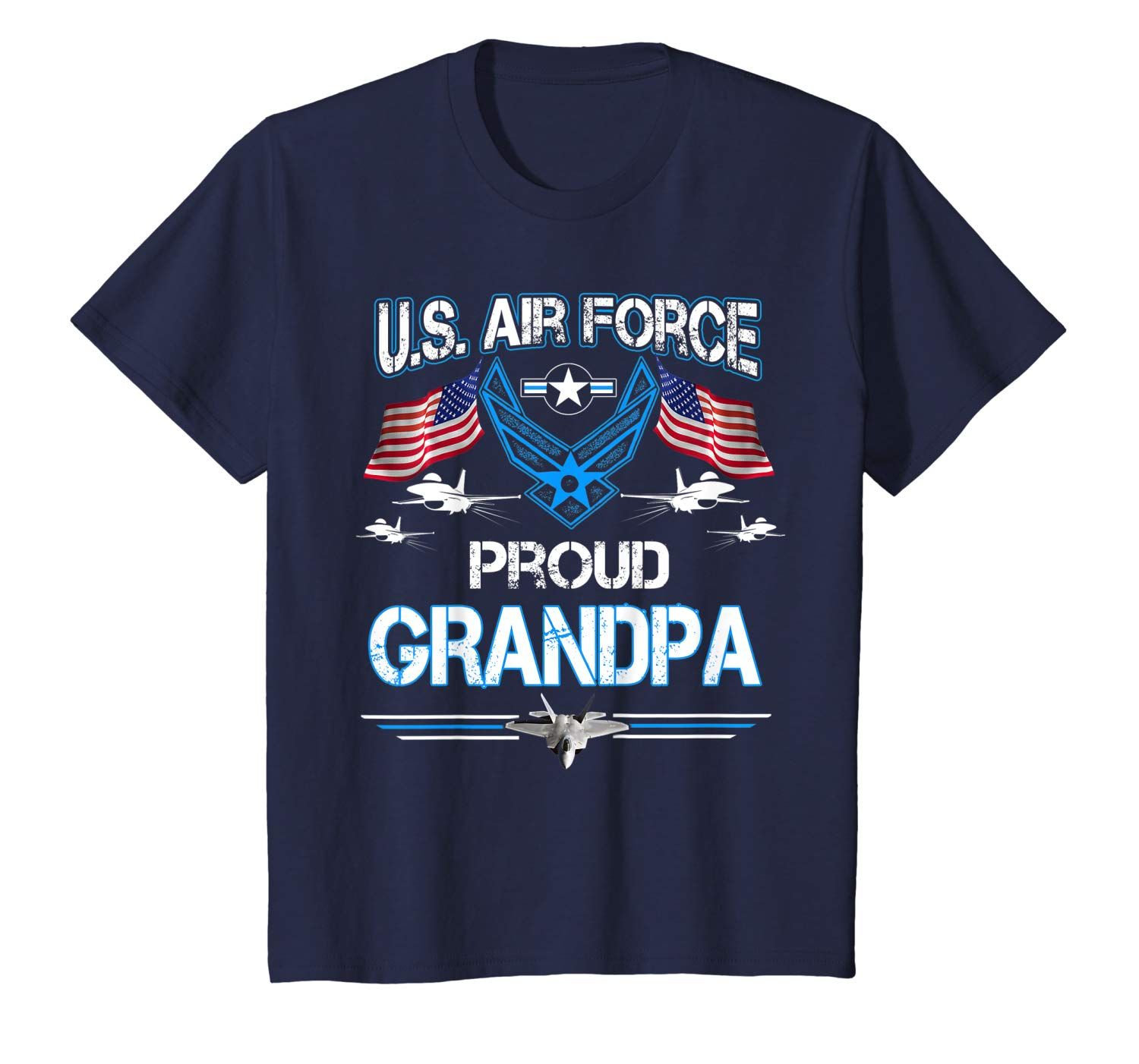Proud Grandpa U.S. Air Force Stars Air Force Family Gift T