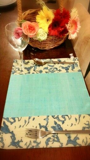 Blue placemat from BringItHome by Tendance Khmere