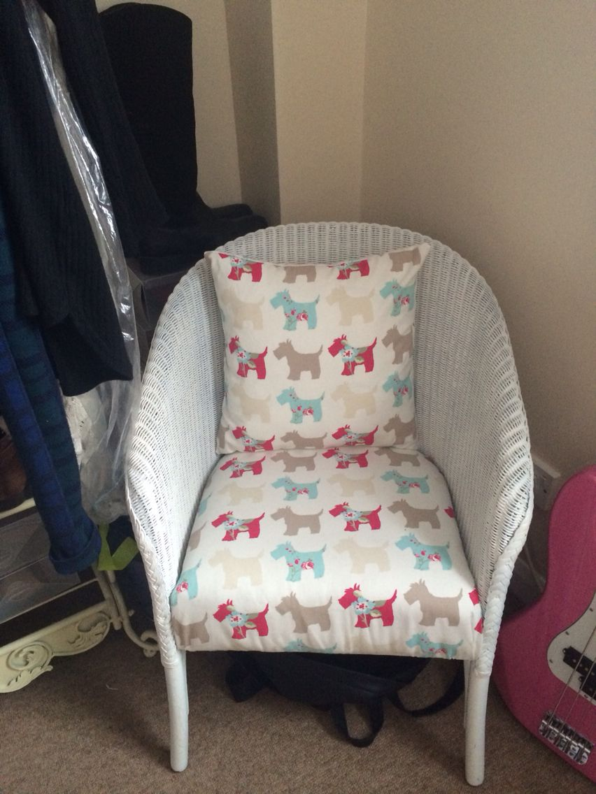 upcycled lloyd loom chair things ive made pinterest. Black Bedroom Furniture Sets. Home Design Ideas