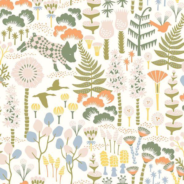 Hoppet Folk White Scandinavian Wallpaper In 2020 Scandinavian Wallpaper Brewster Wallpaper Boho Wallpaper
