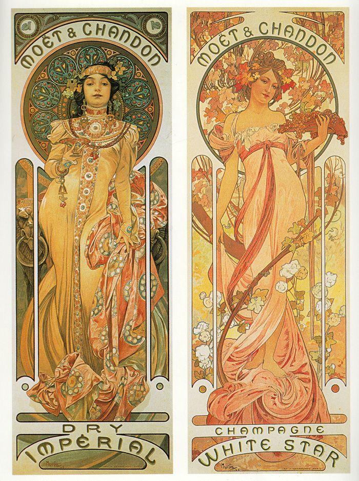 Search For Flights Alphonse Mucha Original Job Poster 1898 Art Nouveau Classic! Decorative Arts