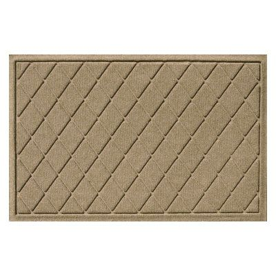 Bungalow Flooring Water Guard Argyle Indoor / Outdoor Mat Camel - 20377500035, Durable