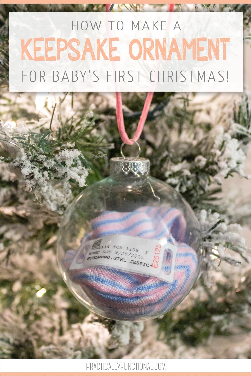 Baby's 1st Christmas Keepsake Ornament