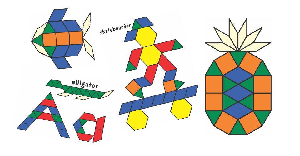 Free Pattern Block Templates Pattern Block Templates Math