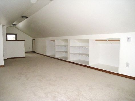Attic Closet Ideas Angled Ceilings Slanted Walls Bonus Rooms